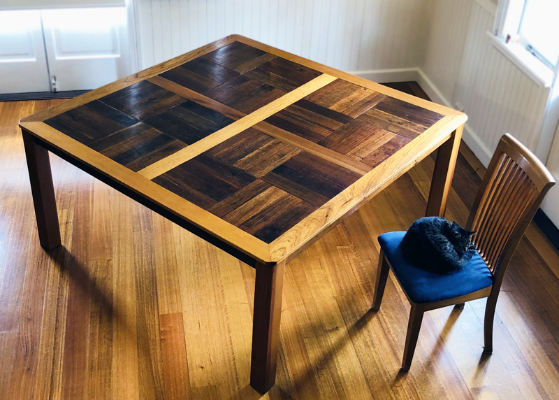 Dining table made by Craig Bingham in 2002