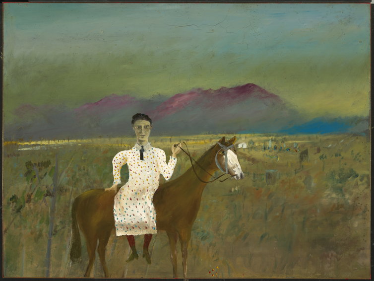 Sidney Nolan painting of Steve Hart dressed as a girl.
