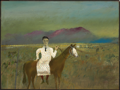 Steve Hart dressed as a girl - as painted by Sidney Nolan.